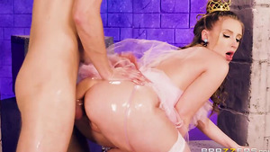 Young Harley Jade's the princess's oily anal sex!