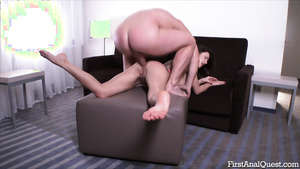 Teen ass porn  with Camilla Moon's anal sex audition.