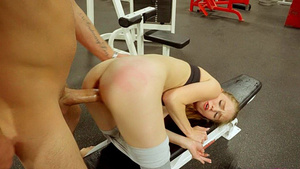 Sex at the GYM with cute blonde Ava Parker!