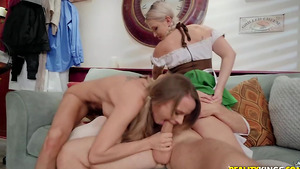 Cocktoberfest fuck with busty babes Pristine Edge and Emily Right!