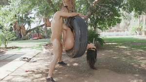 Hot girl Whitney Wright assfucked in tire!