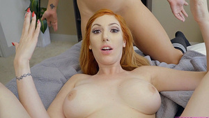 Stepson pov creampie mom Lauren Phillips and threesome with stepsister Lilly Hall!