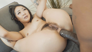 Petite Korean girl Saya Song interracial anal fuck!