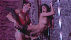 Big boobs asian babe Jade Kush fucked in the warehouse