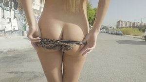 Busty blonde from Ukraine gets her first gaping assfuck