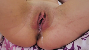 Young slut Angel Ryder unsupervised creampie inside her tiny pussy