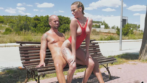 Fuck with young slut Lya Missy in publick park outdoor!