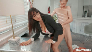 Young Jimmy Michaels fuck sexy girl in glasses Melody Foxx  porn tube